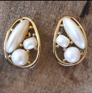 Authentic Vintage Givenchy Pearl Earrings